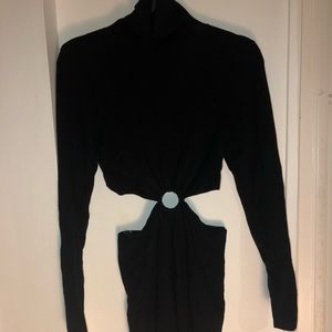 Black turtle neck dress
